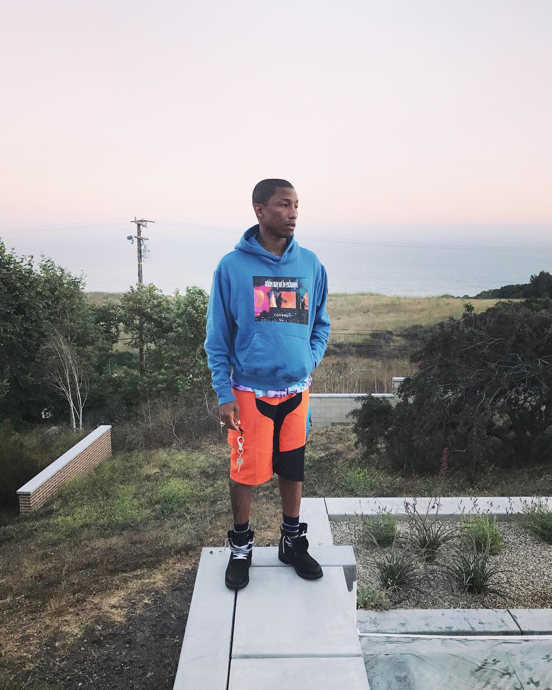 SPOTTED: Pharrell Sports Timberland, Cav Empt and Troy Lee