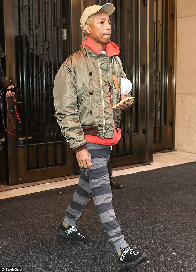 SPOTTED: Pharrell Williams Steps Out In Nigo's Human Made