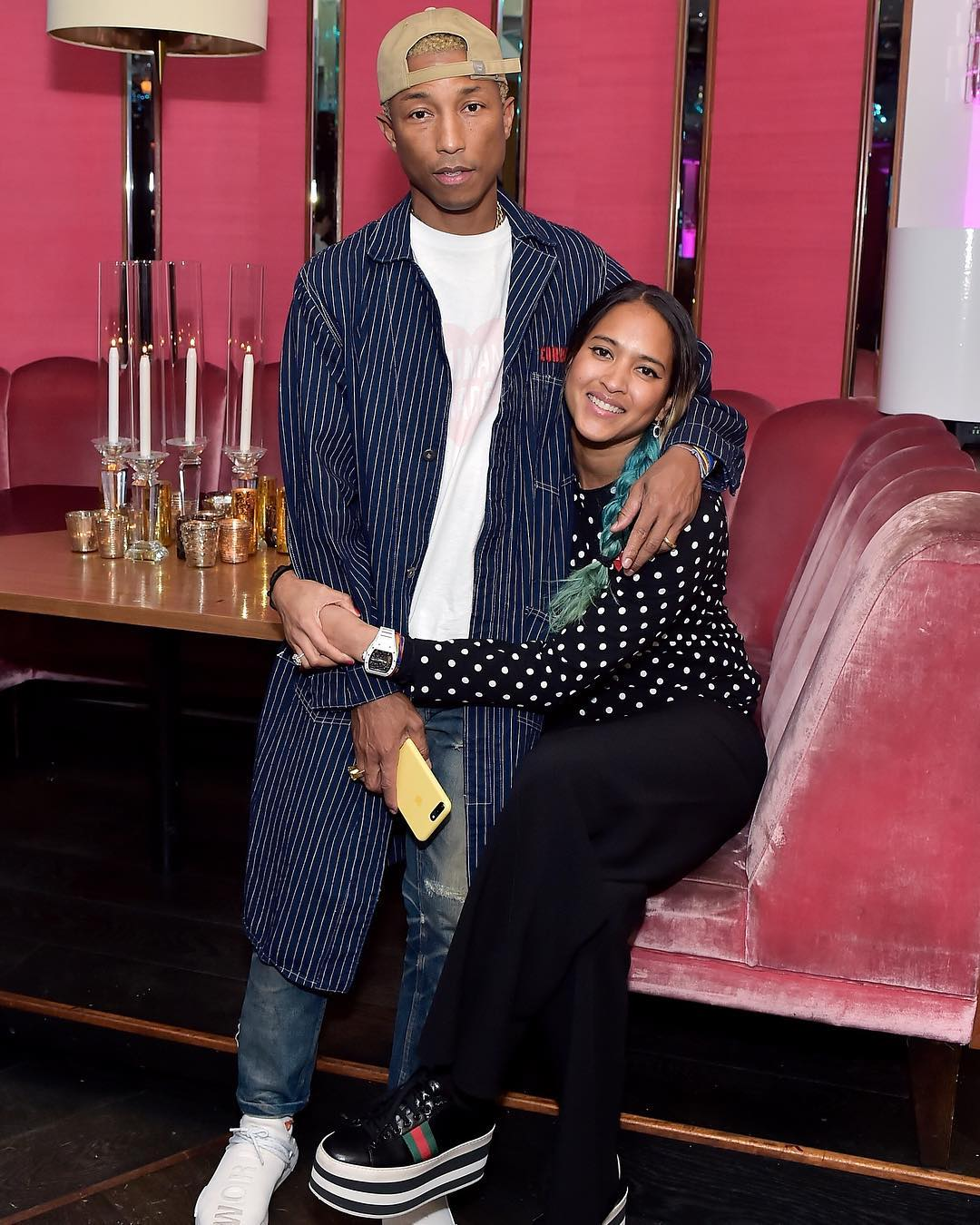 SPOTTED: Pharrell and Helen Lasichanh in Gucci and Pharrell x adidas Sneakers