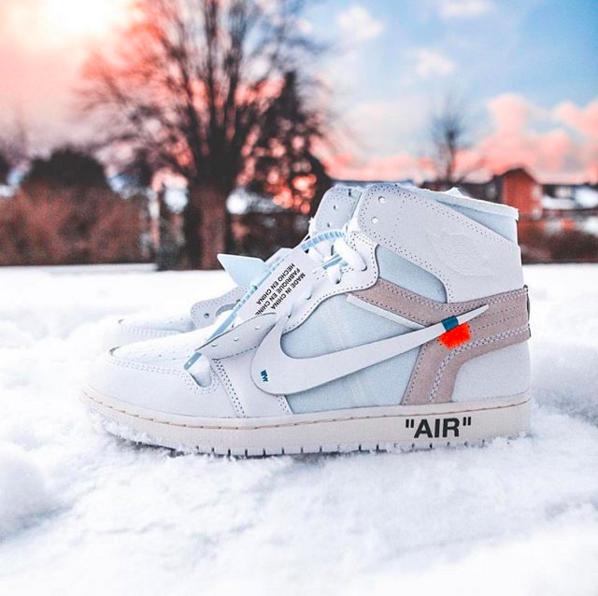 OFF-WHITE™ All-White Air Jordan 1 Euro Exclusive