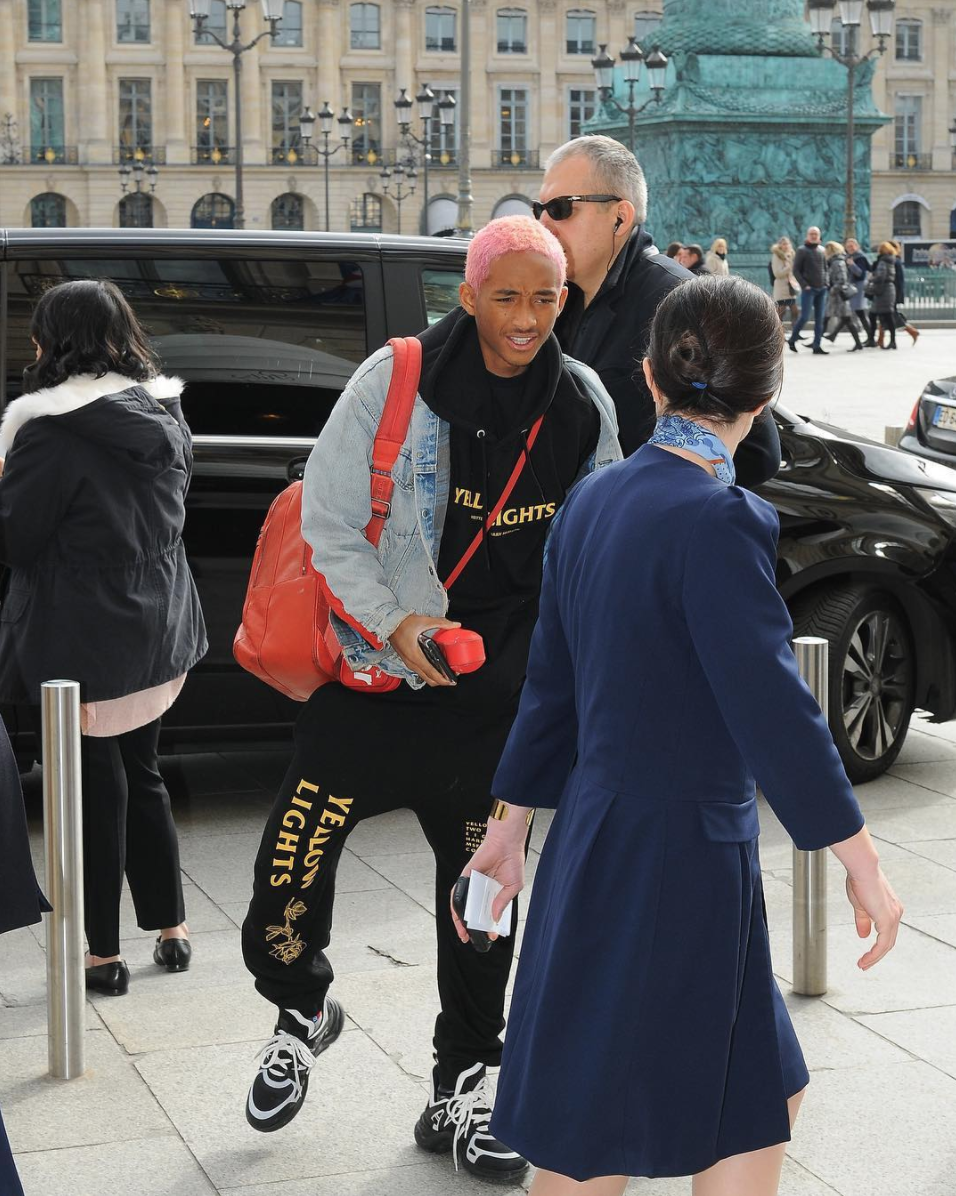 SPOTTED: Jaden Smith Arrives In Paris Rocking Louis Vuitton Sneakers