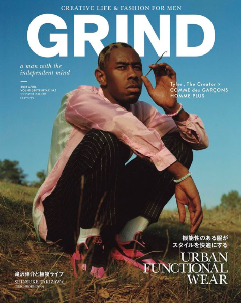 SPOTTED: Tyler the Creator Wearing CDG Homme Plus x Nike Trainers for GRIND
