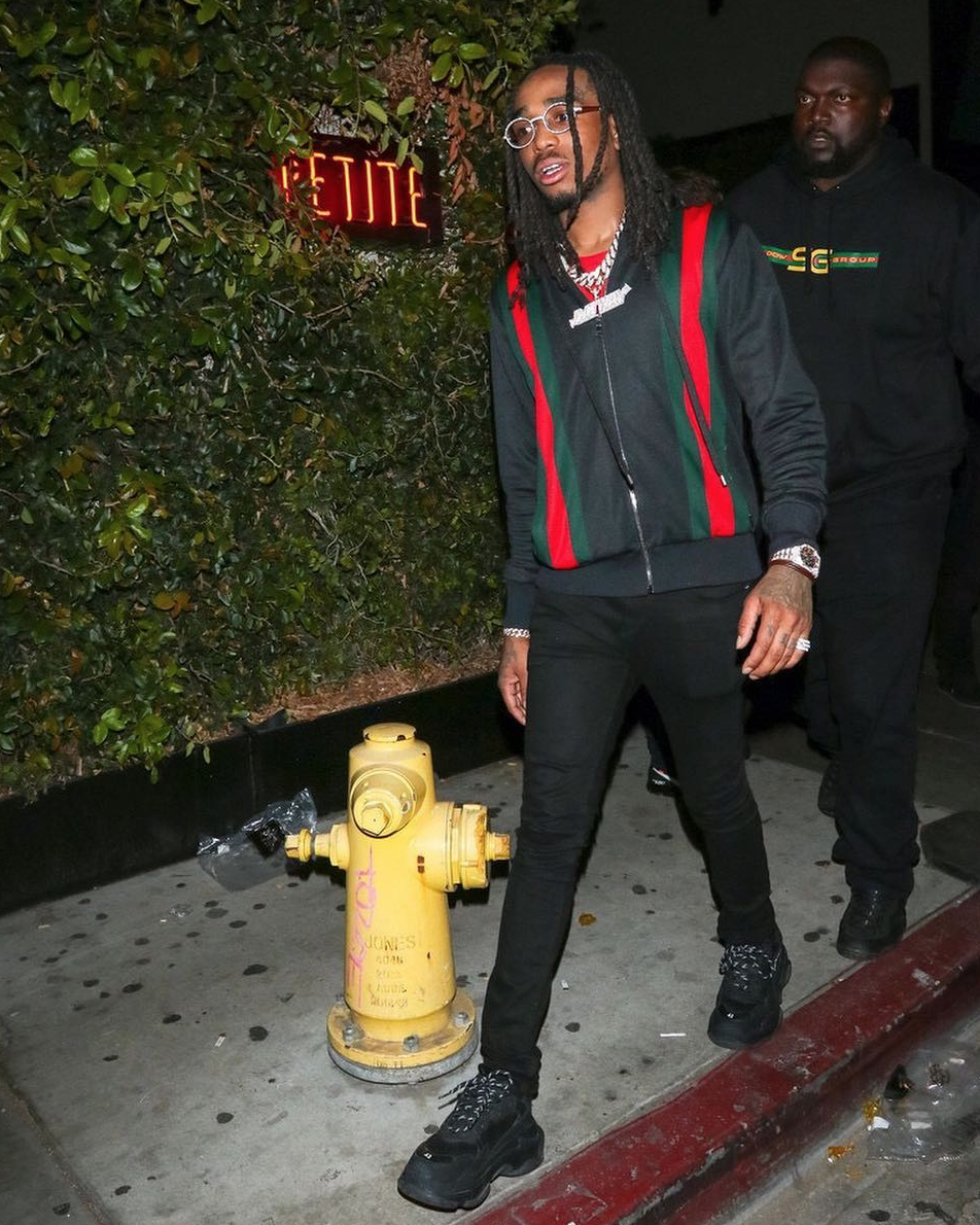 SPOTTED: Quavo in Gucci and Balenciaga