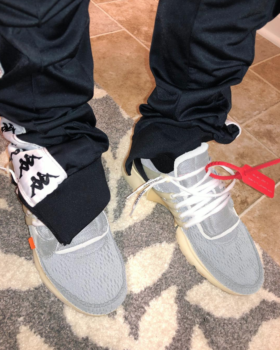 "Virgil Abloh's OFF-WHITE x Nike Air Presto in ""Wolf Grey"""
