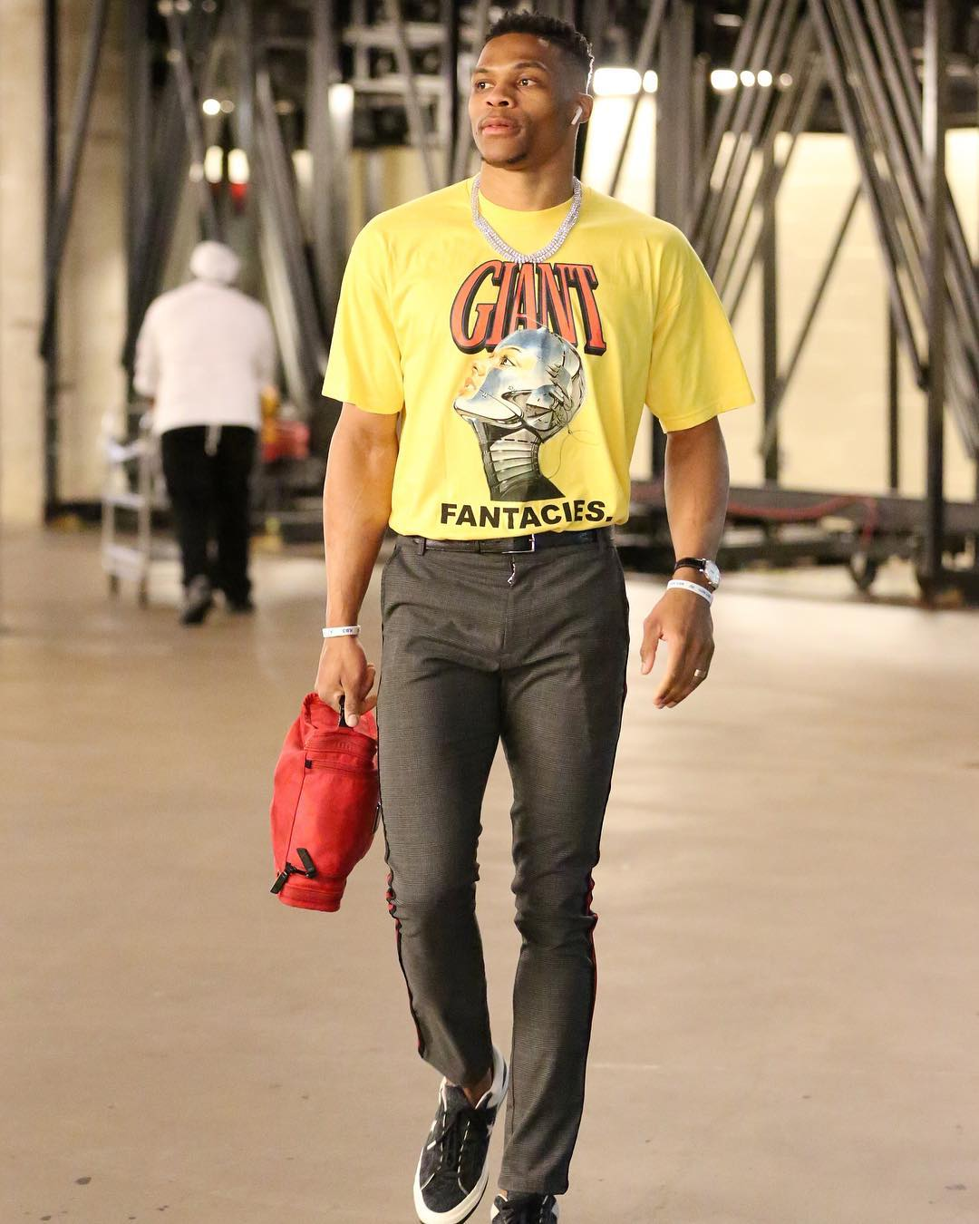 SPOTTED: Russell Westbrook in ROYAL.2, Christos, Converse and More
