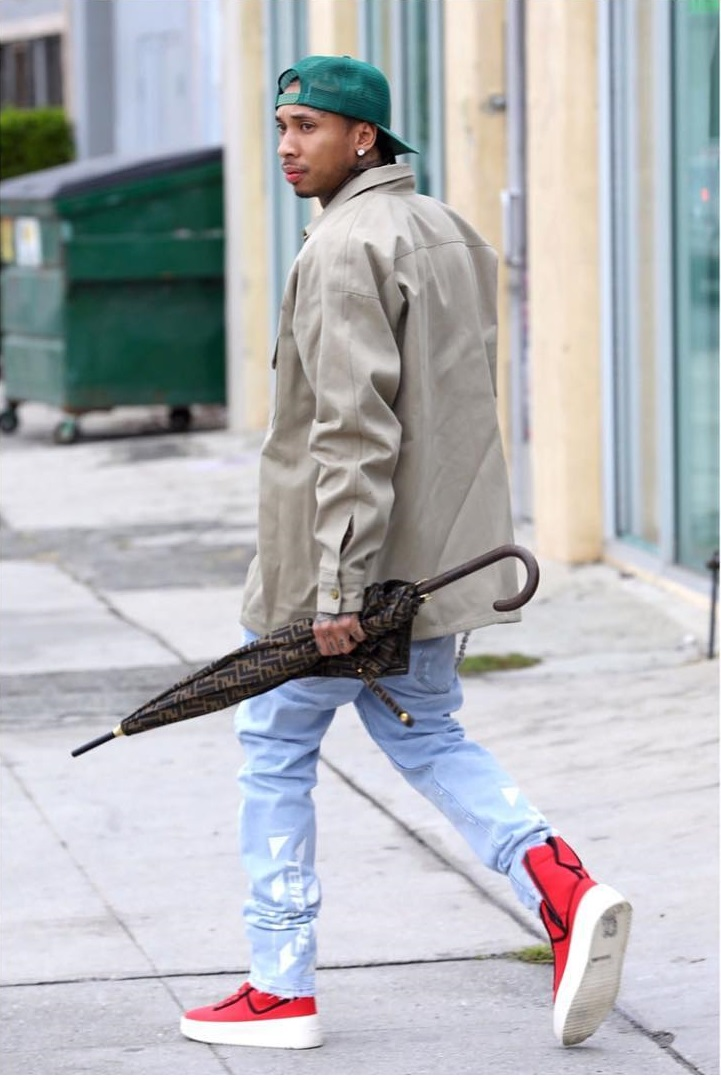 SPOTTED: Tyga Repping Fendi