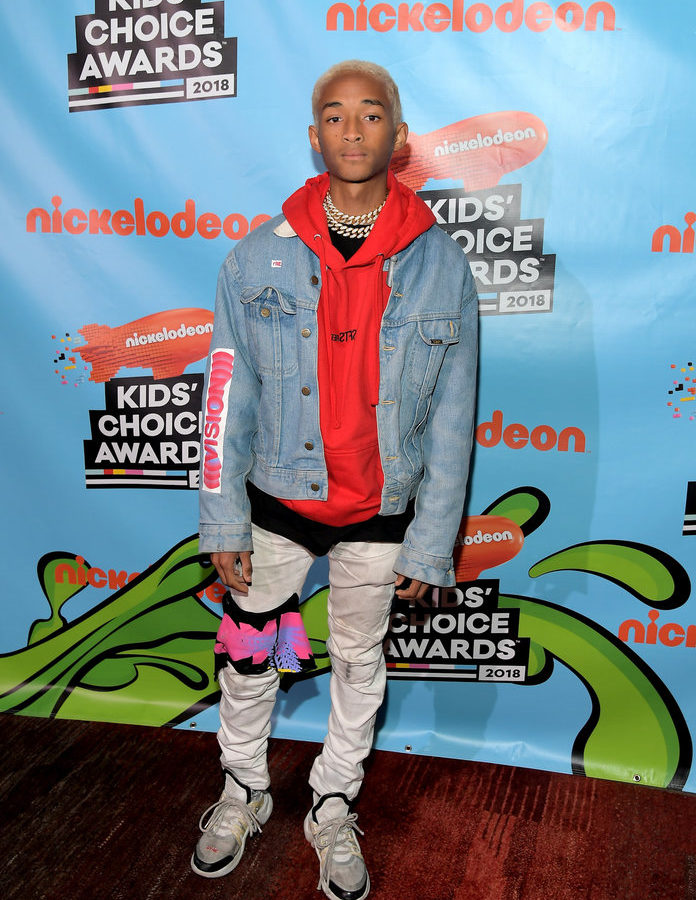 INGLEWOOD, CA - MARCH 24:  Actor/musician Jaden Smith attends Nickelodeon's 2018 Kids' Choice Awards at The Forum on March 24, 2018 in Inglewood, California.  (Photo by Charley Gallay/KCA2018/Getty Images for Nickelodeon)