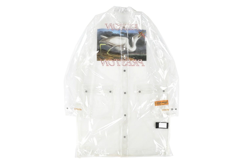 Heron Preston Drops An All-Transparent PVC Rain Jacket