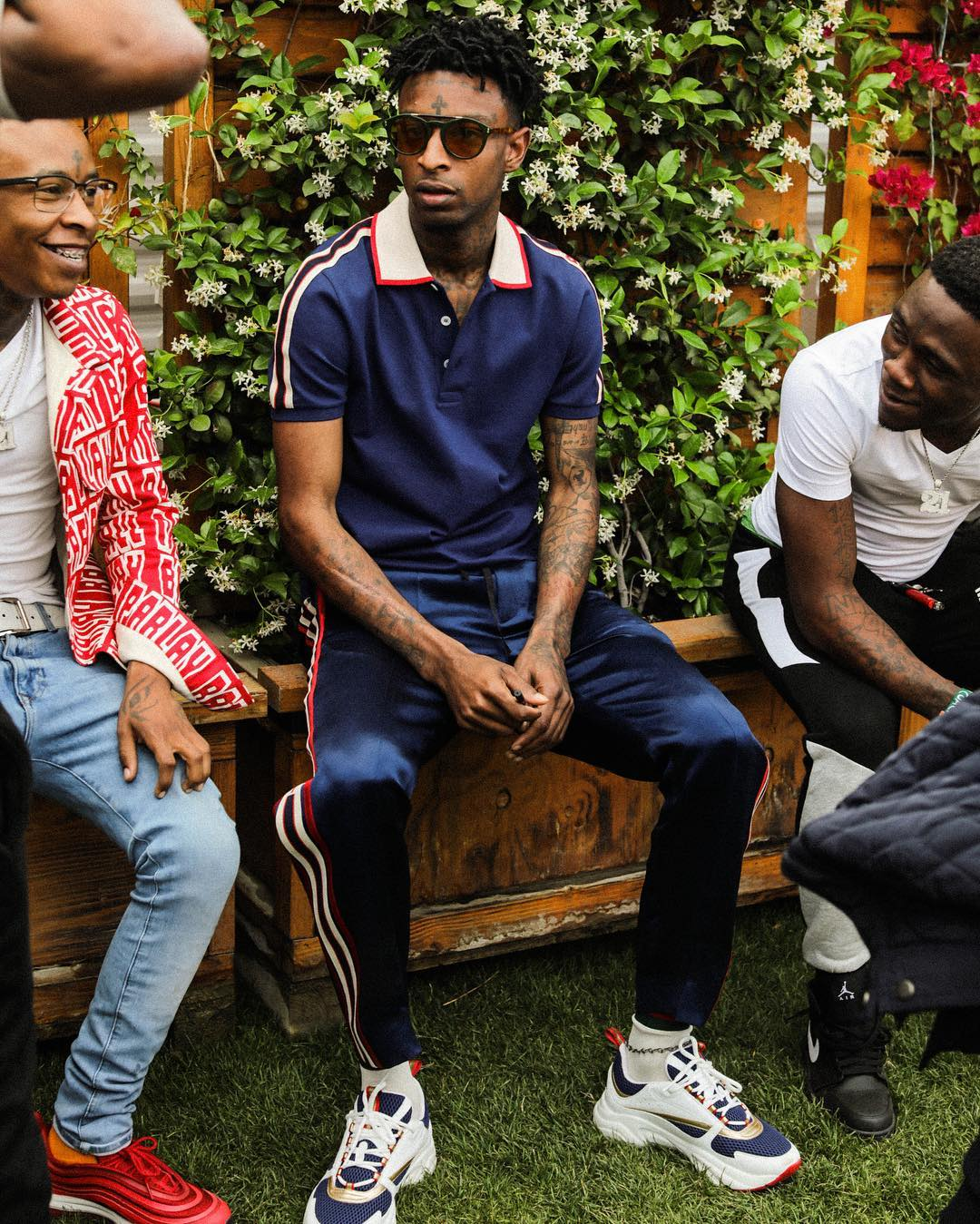 SPOTTED: 21 Savage in Dior Homme and Gucci