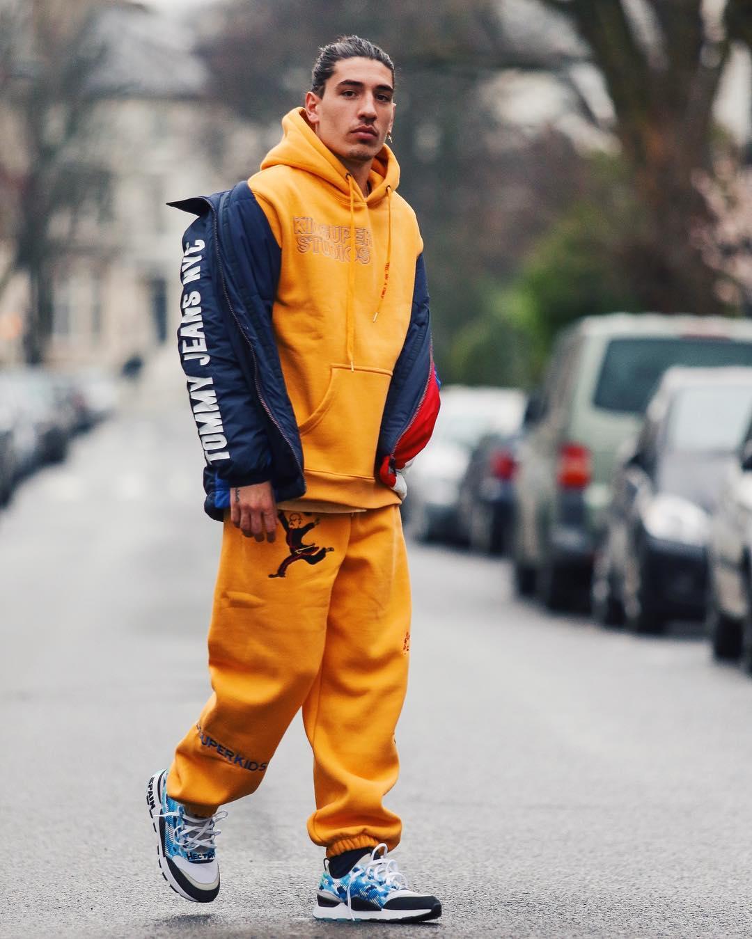 SPOTTED: Héctor Bellerín in KidSuper Tracksuit and Tommy Jeans Jacket
