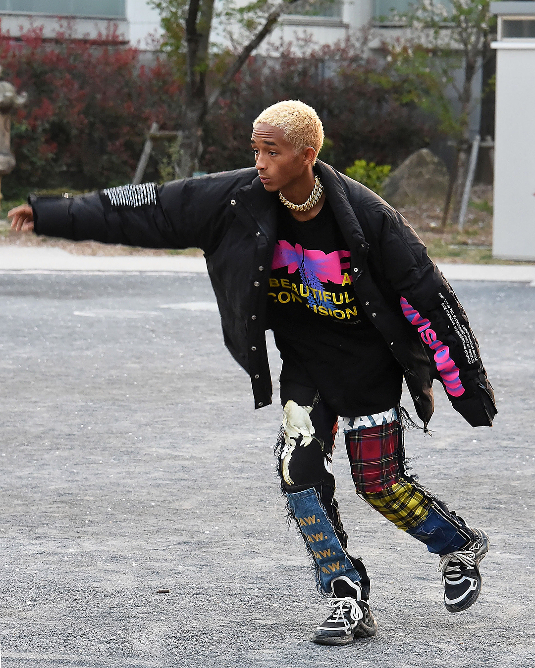 SPOTTED: Jaden Smith in MSFTSrep, G-Star RAW and Louis Vuitton