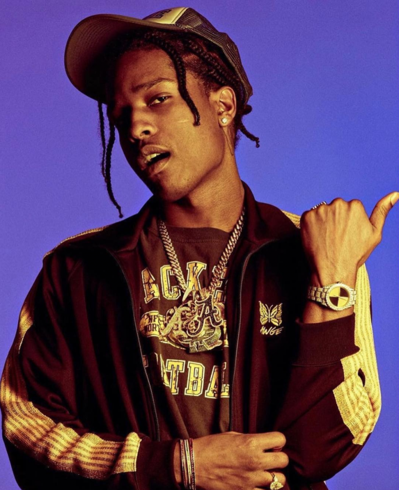 SPOTTED: ASAP Rocky in Brands AWGE, AWGE x Needles and Packers