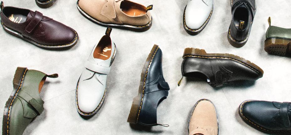 Dr. Martens x Engineered Garments SS18 Footwear