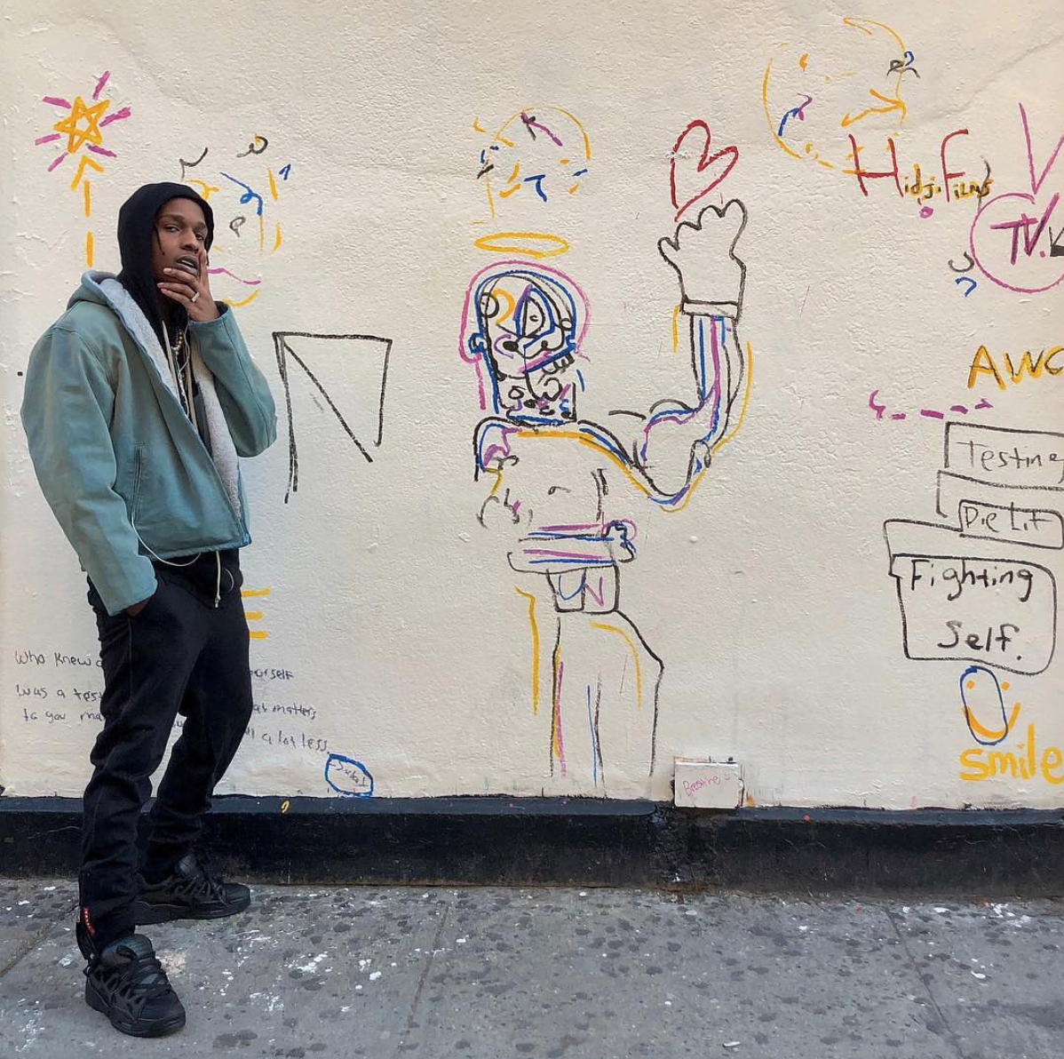 SPOTTED: ASAP Rocky in Yeezy, Prada & Osiris Shoes