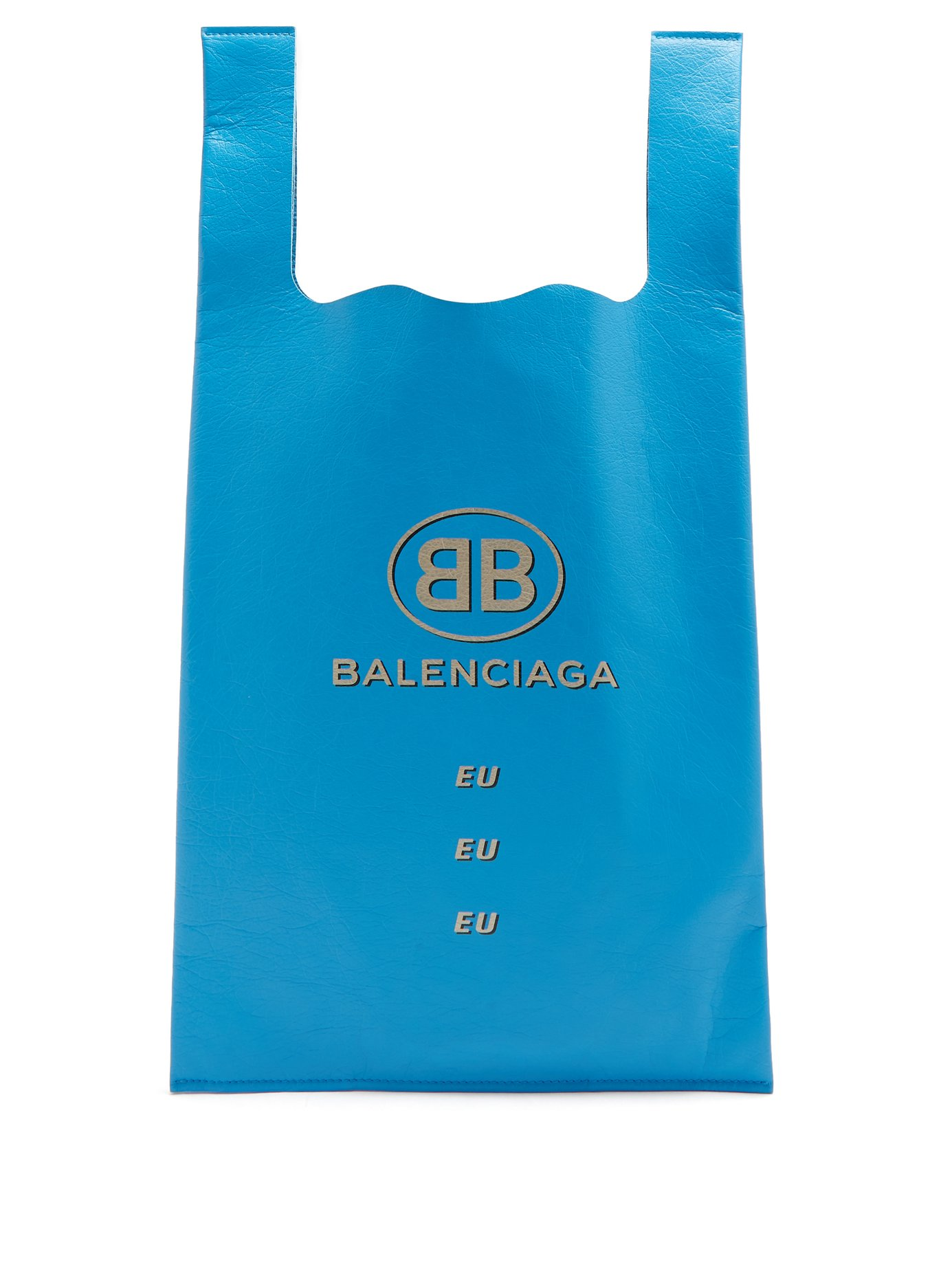 PAUSE or Skip: Balenciaga Logo-Print Leather Shopper Tote