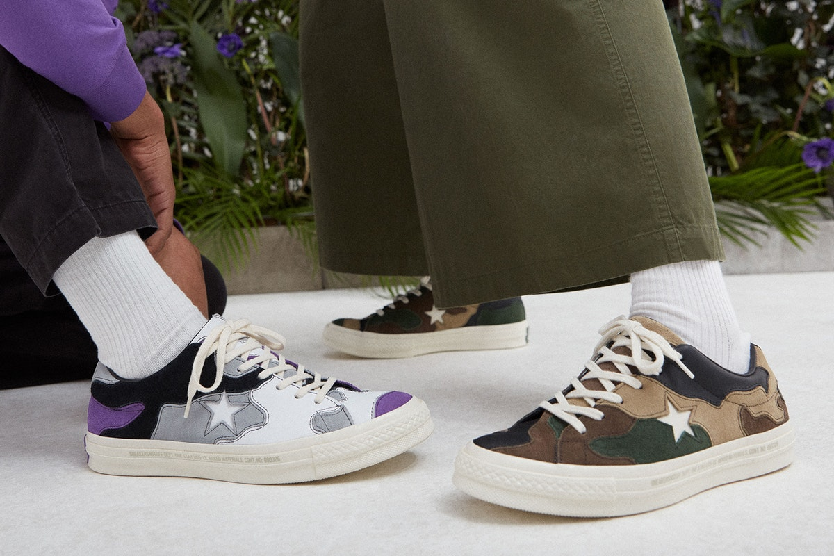 Converse x Sneakersnstuff Collaborative Camouflage One Star