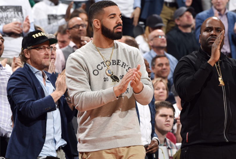 SPOTTED: Drake in OVO Sweatshirt & Yeezy Boots