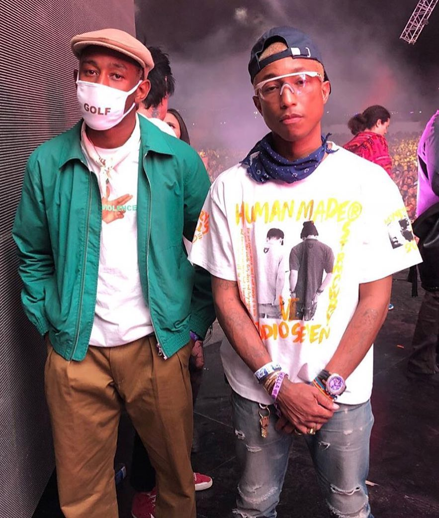 SPOTTED: Tyler, the Creator and Pharrell in HUMAN MADE, Golf, Converse and Chanel