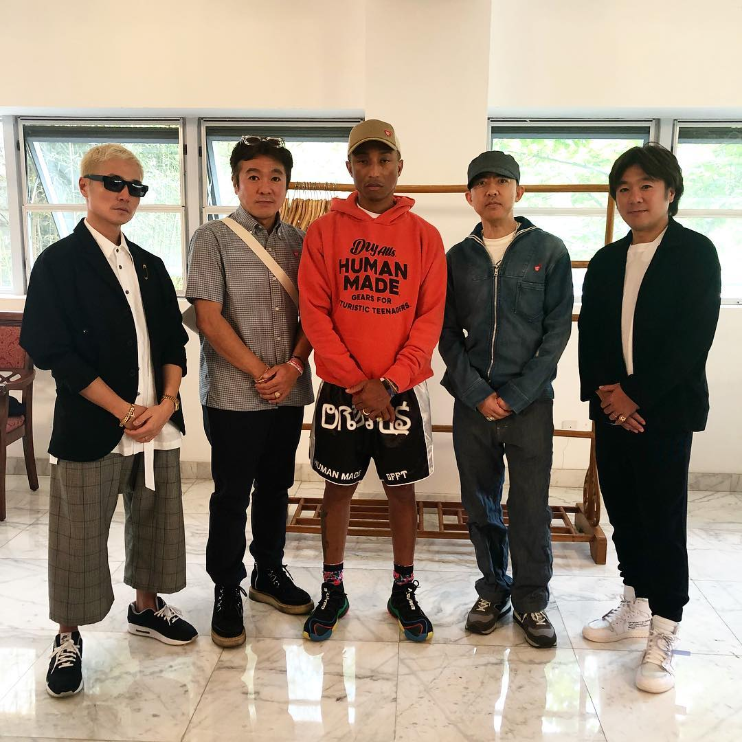 SPOTTED: Pharrell in Japan Sporting HUMAN MADE