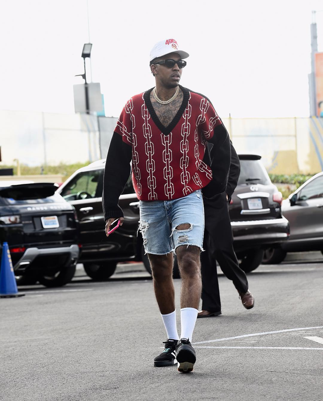 SPOTTED: Nick Young in Enfants Riches Déprimés, FEAR OF GOD and Alexander Wang x adidas Originals