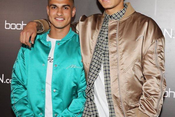 LONDON, ENGLAND - MAY 10:  Samir Kamani and Dele Alli (R) attend boohooMAN by Dele Alli Launch at Radio Rooftop on May 10, 2018 in London, England.  (Photo by David M. Benett/Dave Benett/Getty Images for boohooMAN) *** Local Caption *** Samir Kamani; Dele Alli