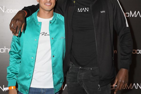 LONDON, ENGLAND - MAY 10:  Samir Kamani and Lawrence Okolie  (R) attends boohooMAN by Dele Alli Launch at Radio Rooftop on May 10, 2018 in London, England.  (Photo by David M. Benett/Dave Benett/Getty Images for boohooMAN) *** Local Caption *** Samir Kamani; Lawrence Okolie