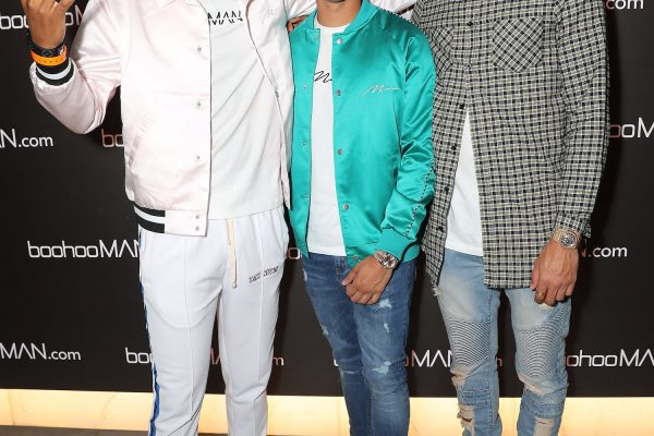 LONDON, ENGLAND - MAY 10:  (L-R) Not3s, Samir Kamani and Dele Alli attends boohooMAN by Dele Alli Launch at Radio Rooftop on May 10, 2018 in London, England.  (Photo by David M. Benett/Dave Benett/Getty Images for boohooMAN) *** Local Caption *** Samir Kamani; Dele Alli; Not3s