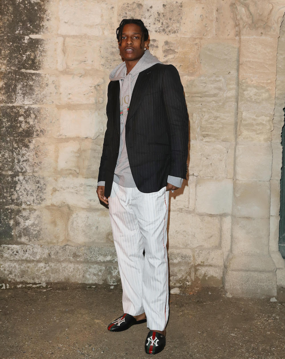 SPOTTED: A$AP Rocky At The Gucci Cruise  2019 Show in Aries, France