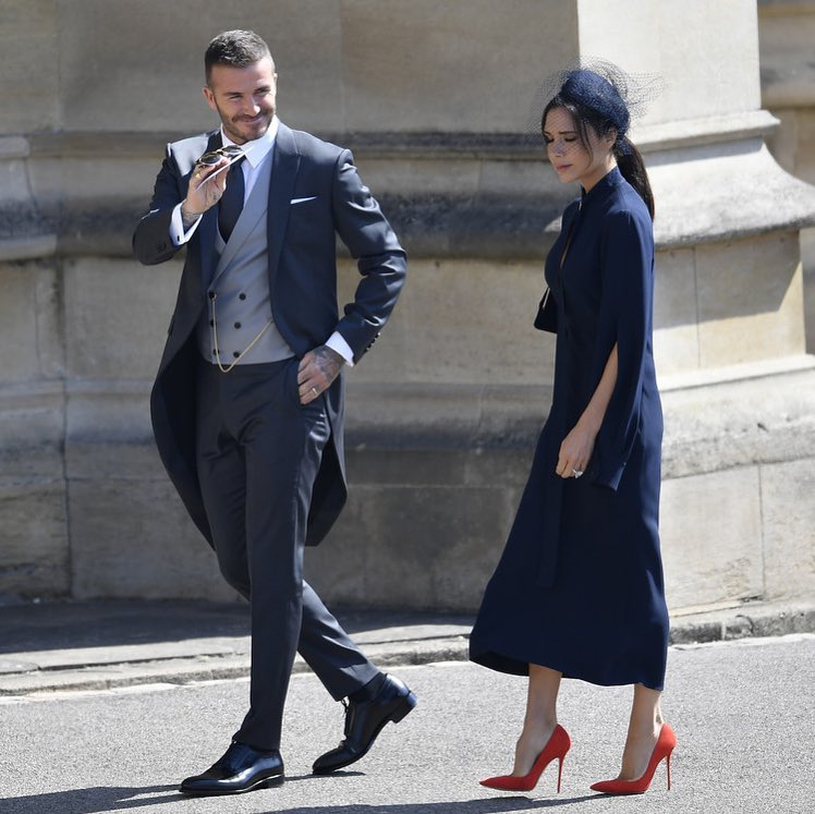 SPOTTED: David and Victoria Beckham in Dior Homme and Victoria's Own Label