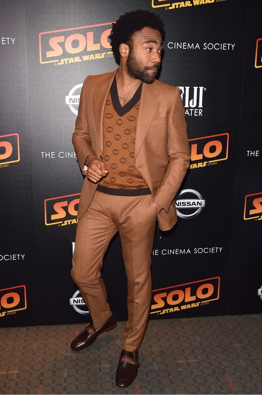 """SPOTTED: Donald Glover Sports Gucci at a Special Screening of """"Solo: A Star Wars Story"""""""