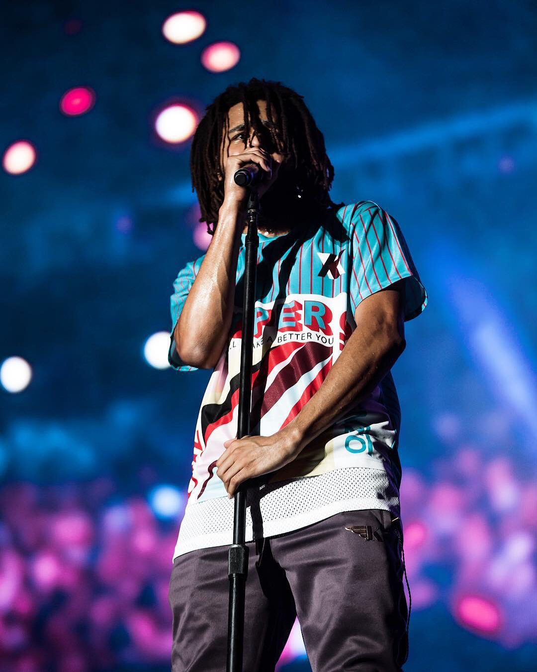 SPOTTED: J. Cole Performing in Miami Sporting Kenzo