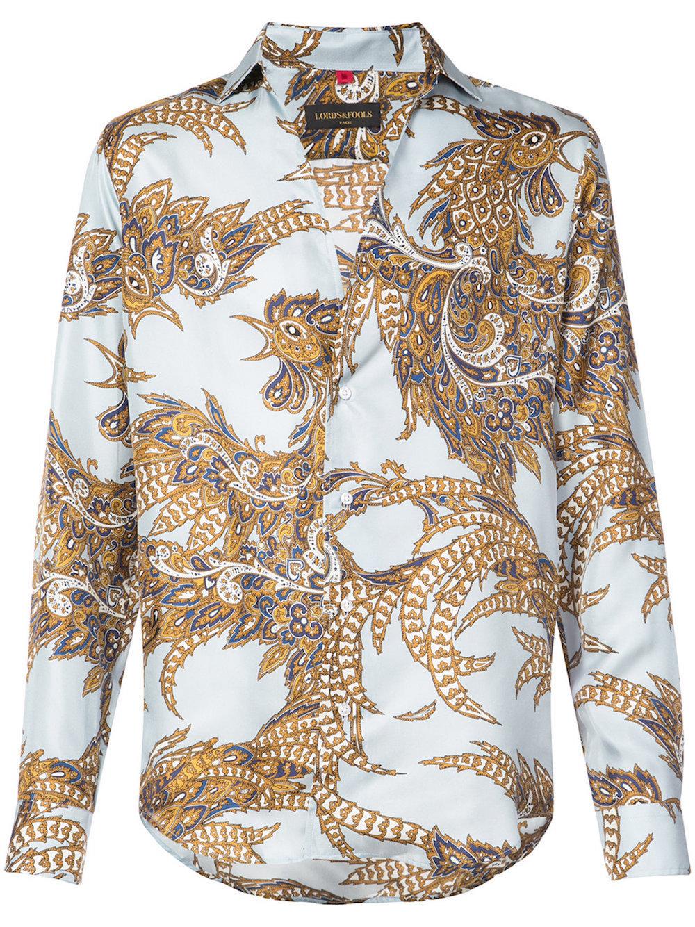 LORDS AND FOOLS Paisley print shirt