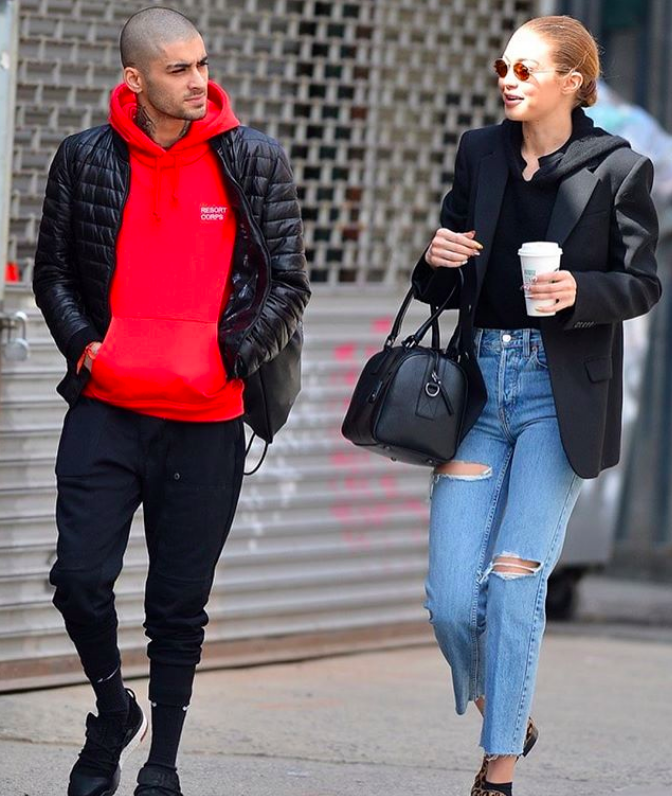SPOTTED: Zayn in Moncler x Rolling Stones Jacket, Resort Corps Hoodie…