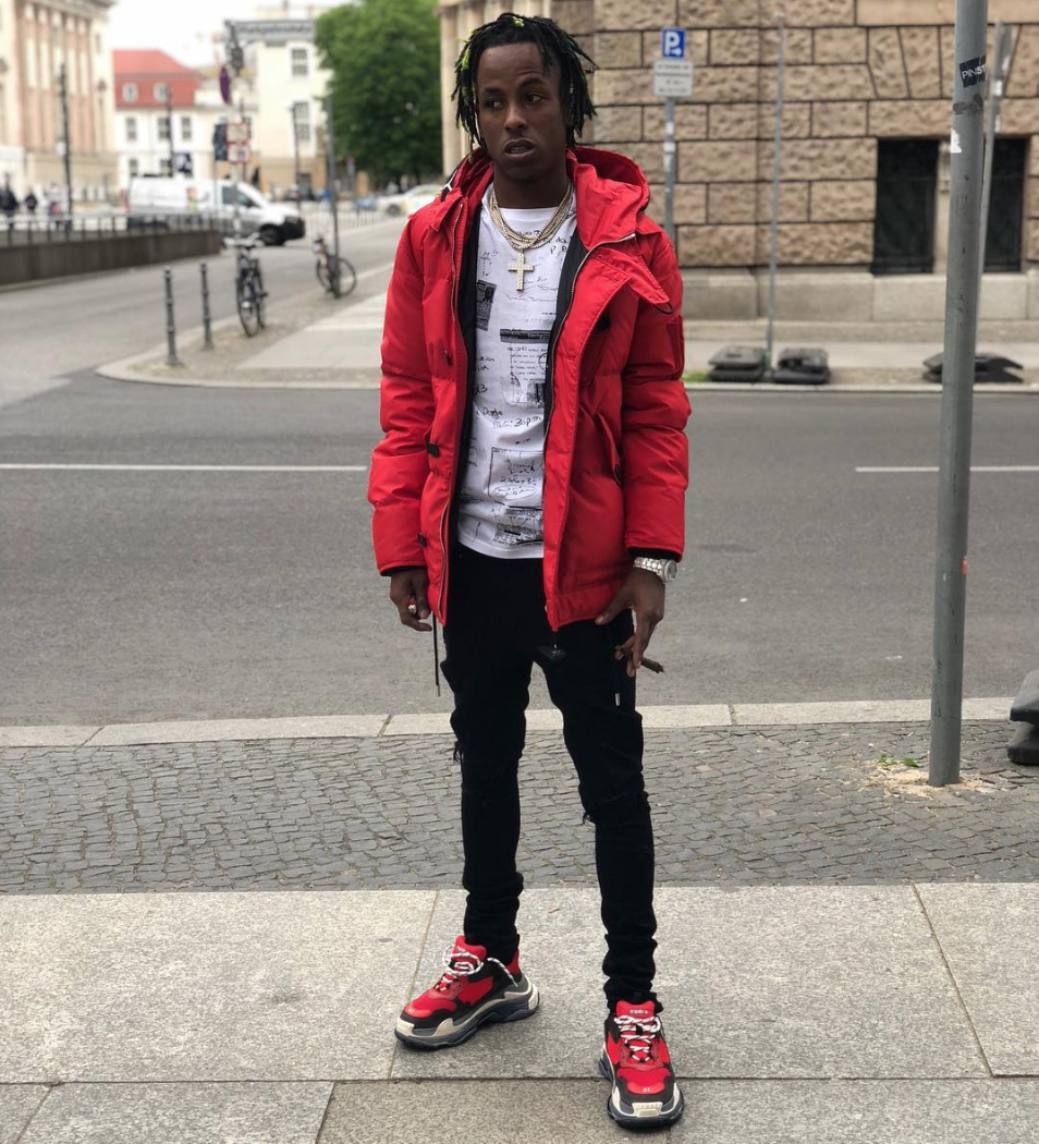 SPOTTED: Rich The Kid in Givenchy Coat & Balenciaga Trainers