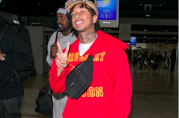 SPOTTED: Tyga Arriving in Nice