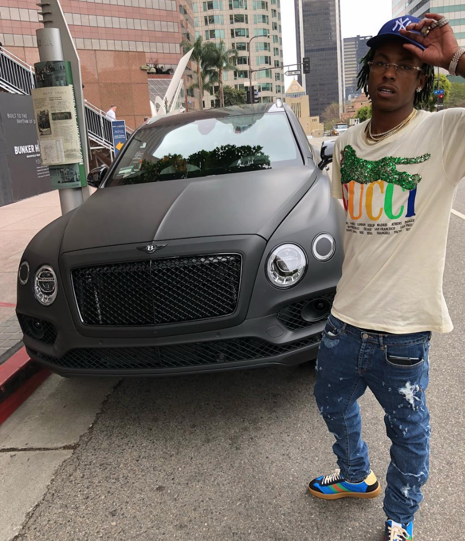 SPOTTED: Rich the Kid in Gucci's New Web Trainers