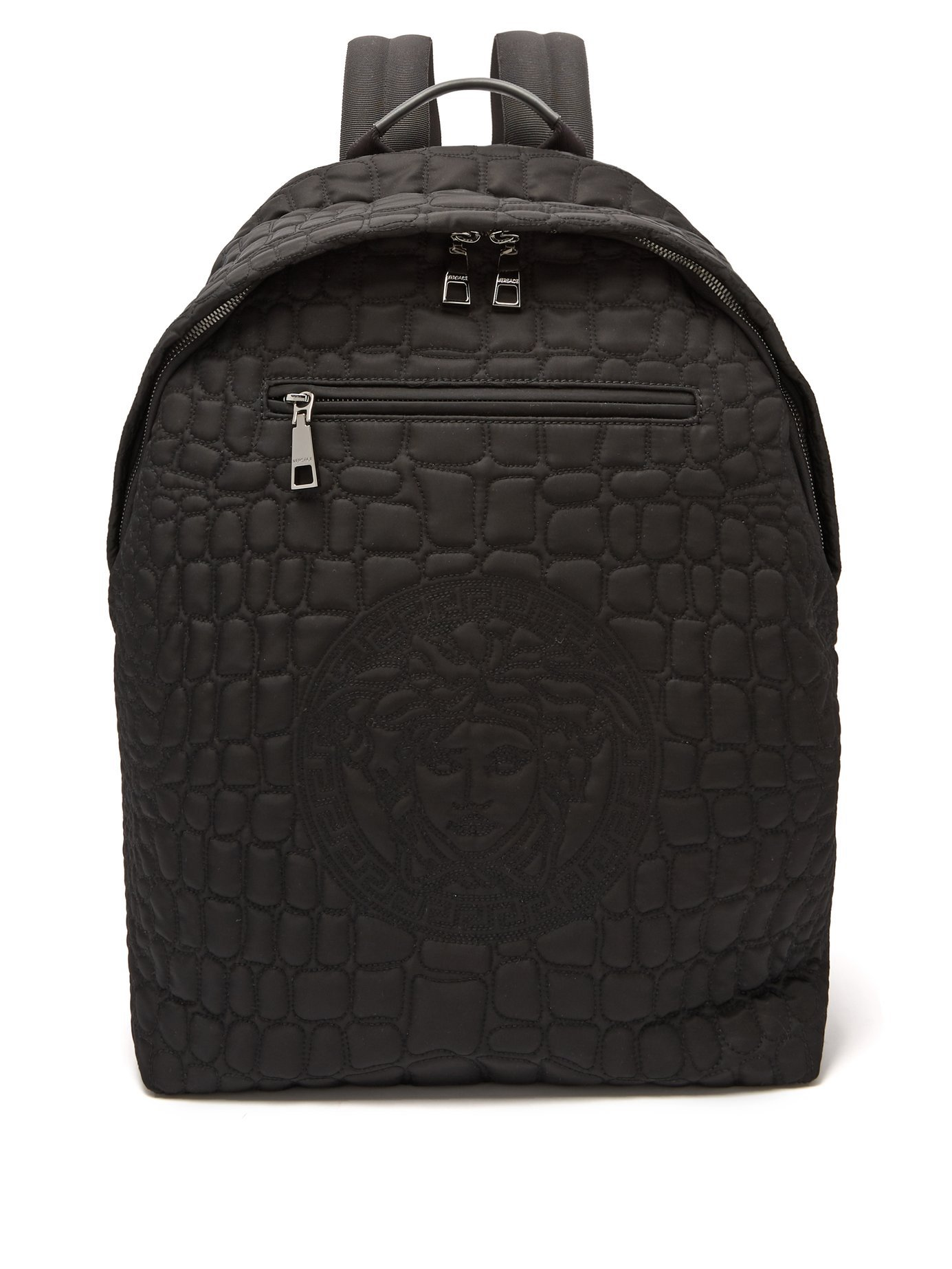 VERSACE Quilted nylon backpack