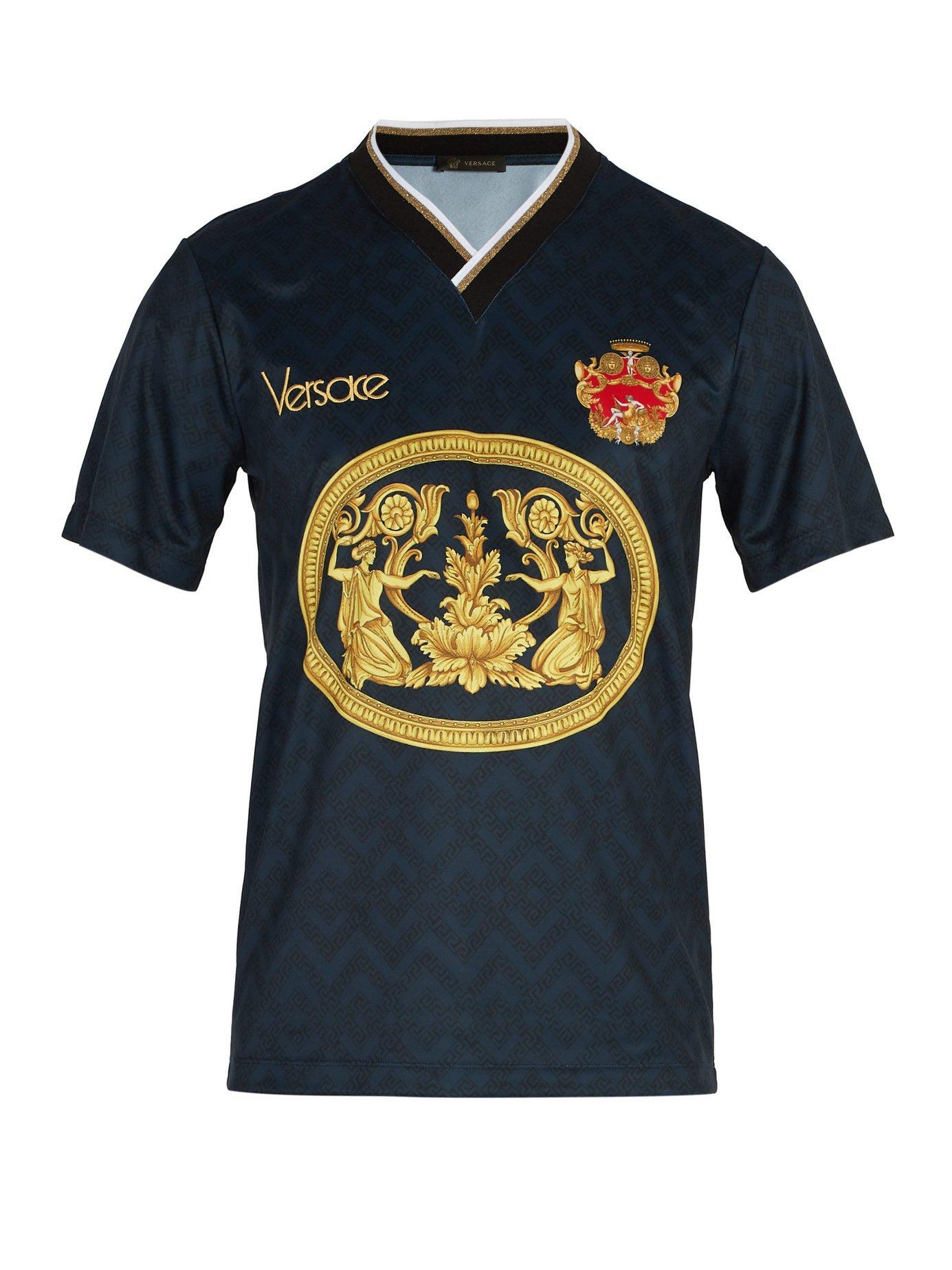Versace V Neck Football Shirt
