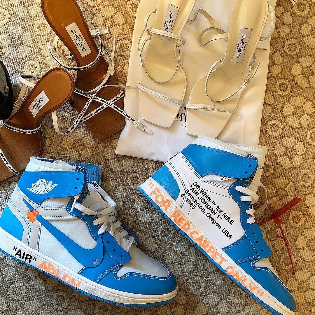 "A Close Look at Virgil Abloh's Air Jordan 1 ""UNC"" Met Gala Footwear"
