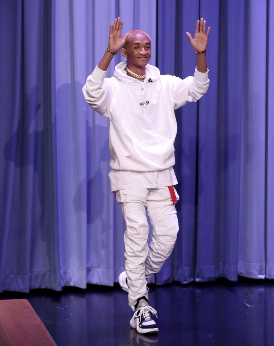 SPOTTED: Jaden Smith in All-White Louis Vuitton and MSFTSrep