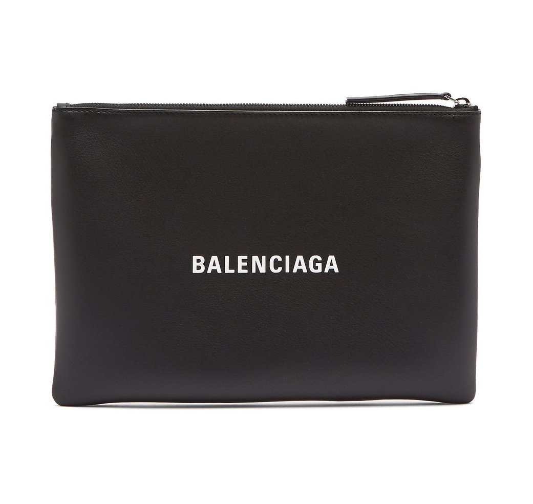 BALENCIAGA Everyday M leather pouch