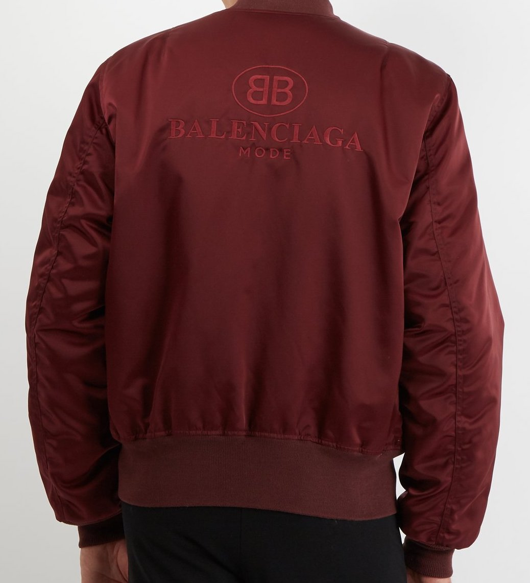 BALENCIAGA Logo-embroidered bomber jacket