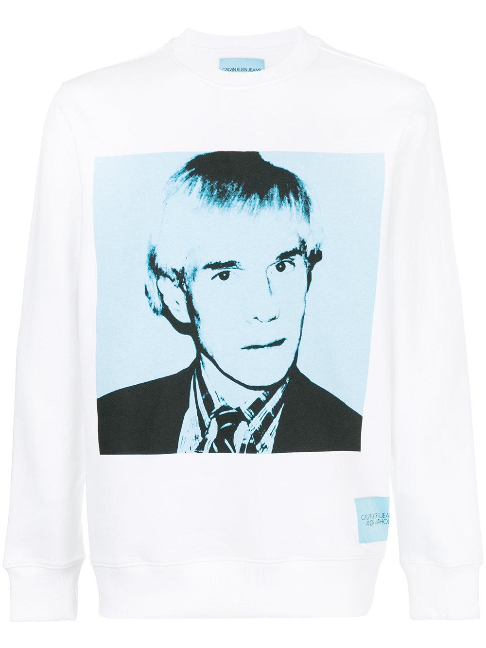 CALVIN KLEIN JEANS Andy Warhol print sweatshirt