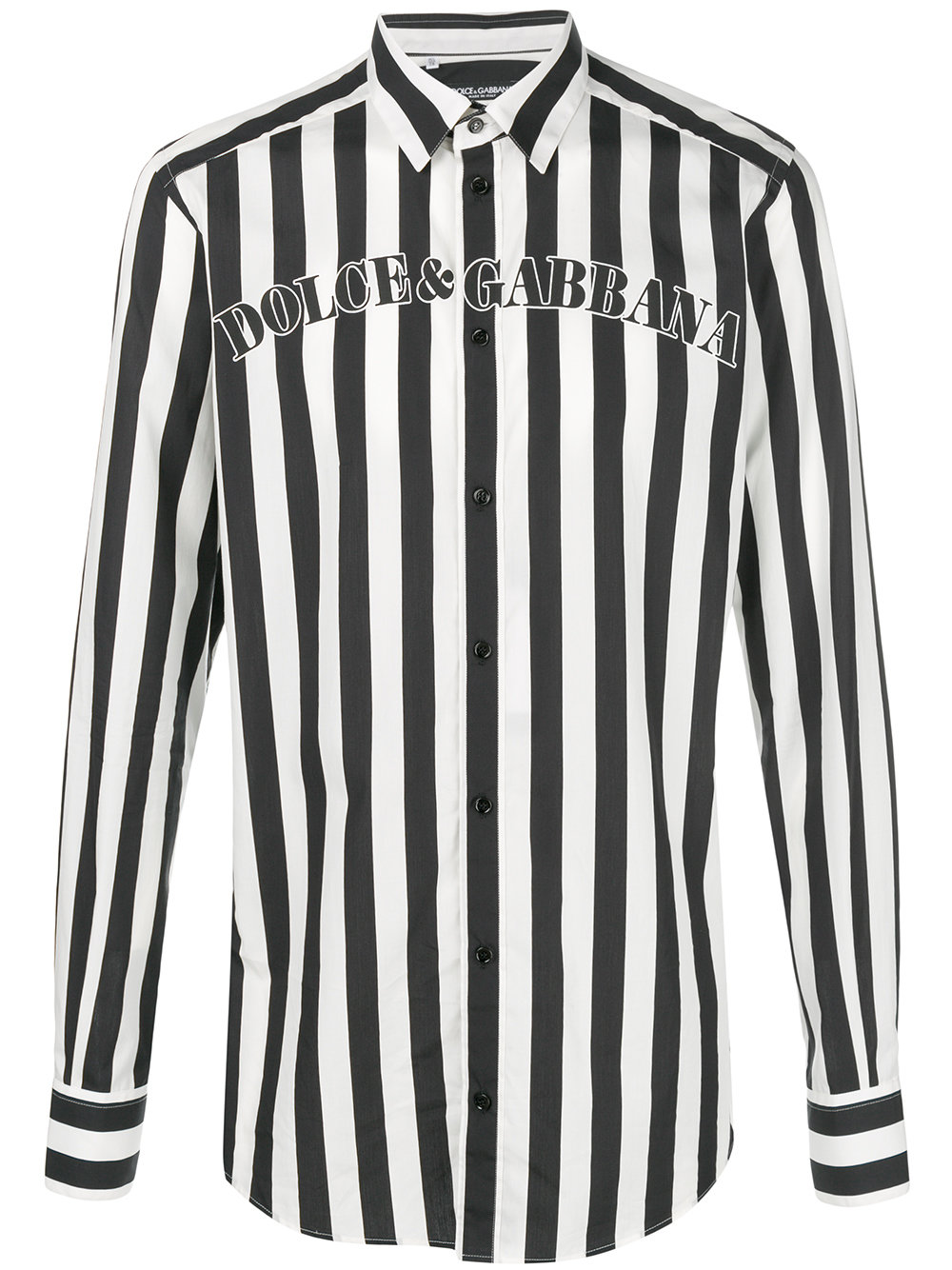 DOLCE & GABBANA striped logo shirt
