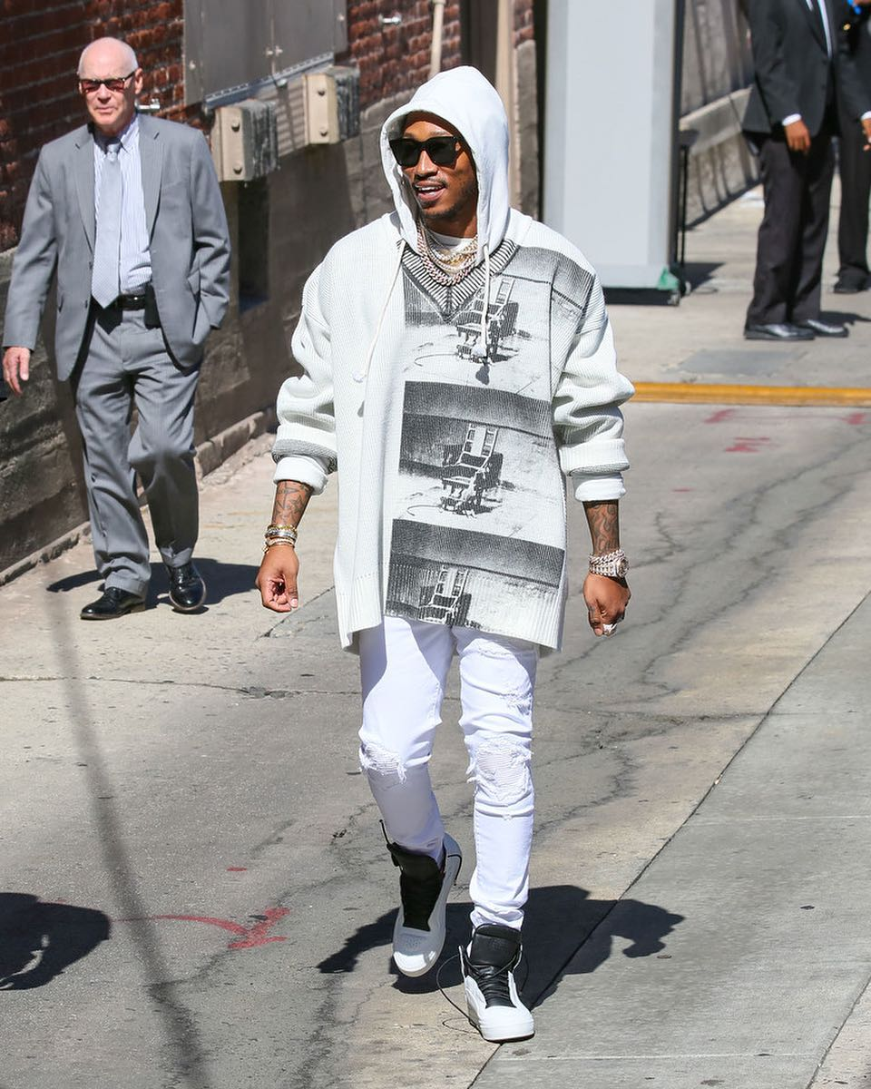 SPOTTED: Future Adorned in Calvin Klein, Amiri, Maison Margiela and More