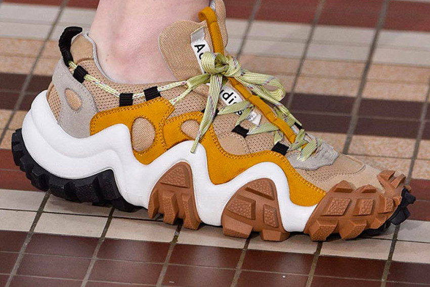 Acne Studios Uses SS19 to Hop on the Trail Sneaker Trend
