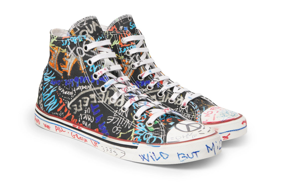 PAUSE or Skip: Vetements Graffiti Canvas High-Top