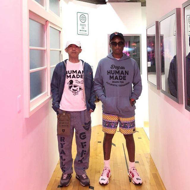 SPOTTED: Pharrell Williams & Nigo in Human Made