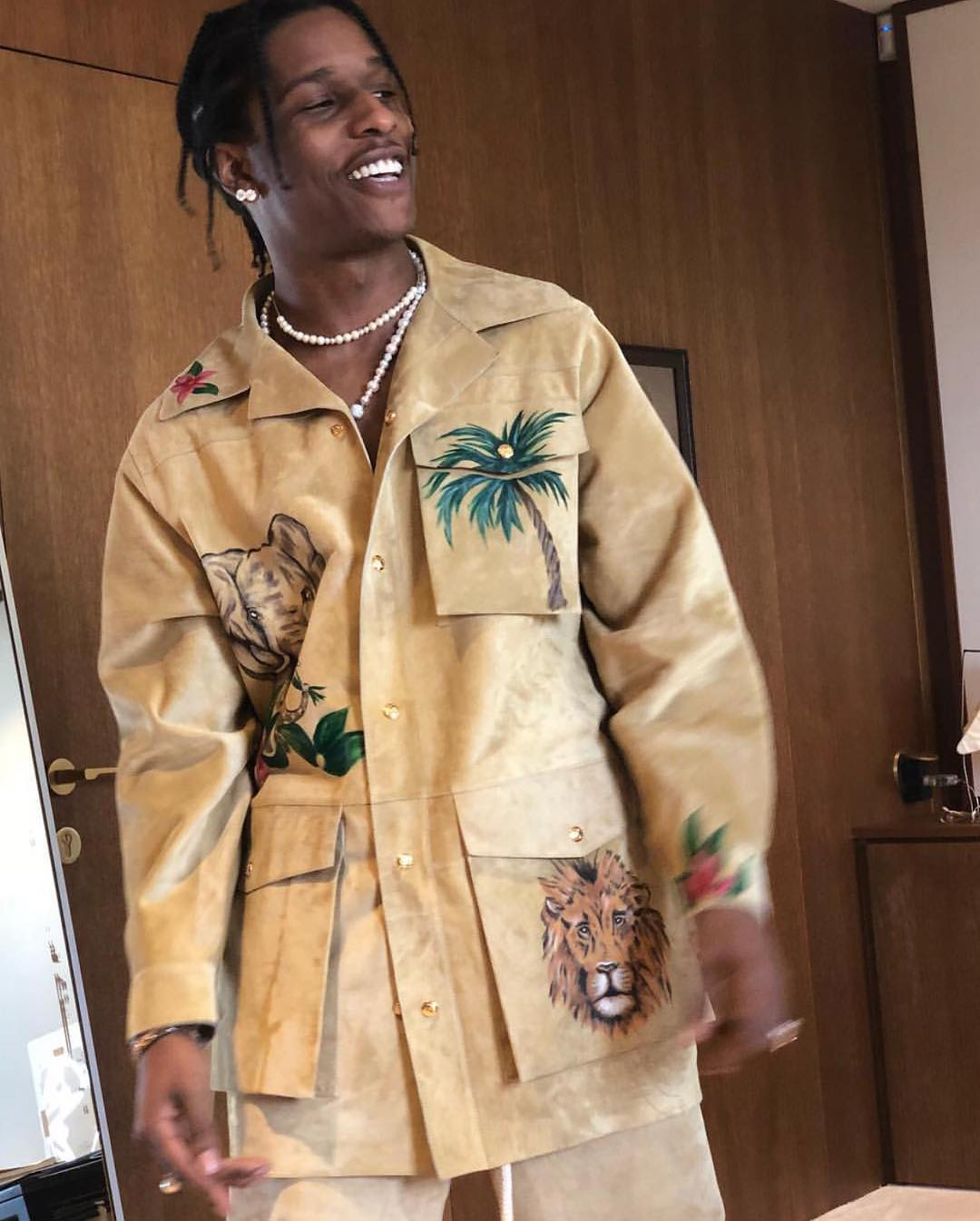 SPOTTED: A$AP Rocky Sports LOEWE with Jonathan Anderson