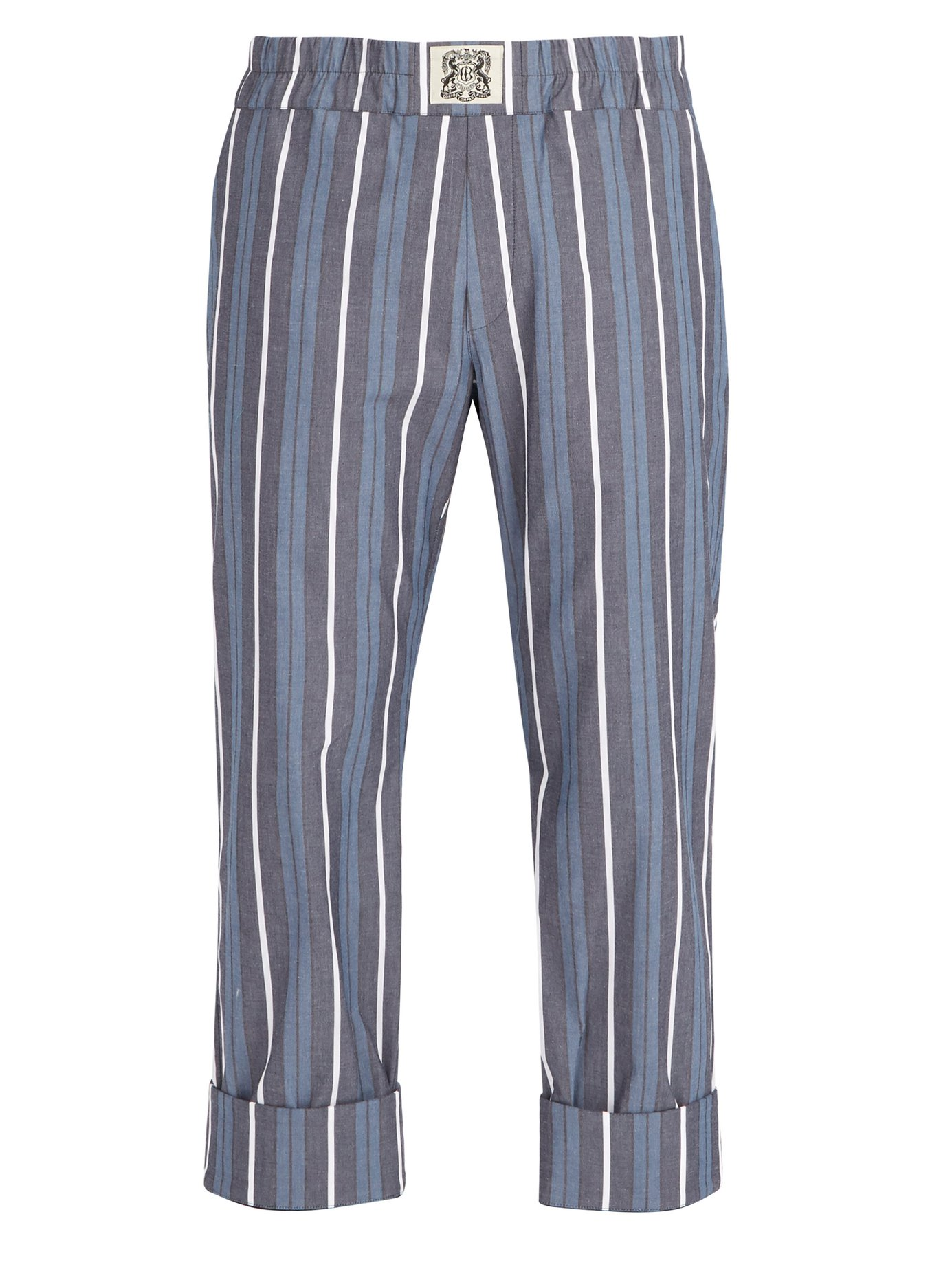 CONNOLLY STRIPED COTTON BLEND TROUSERS